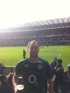 Me at the Rugby enjoying a Guiness